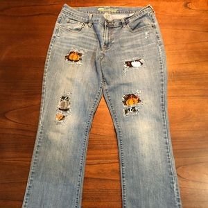Distressed Pumpkin Patch Jeans Old Navy Size 12